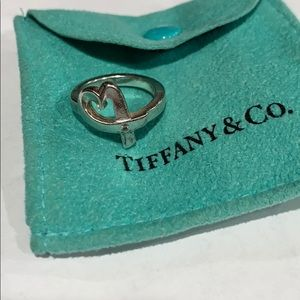 AUTHENTIC TIFFANY & CO DIAMOND HEART RING